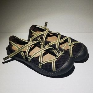 J-41 Chocolate Brown Strappy Slip On Shoes